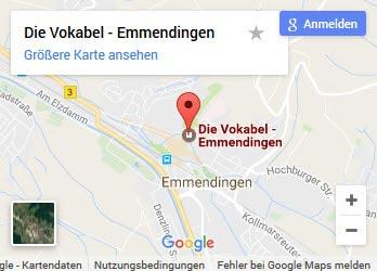 Sprachschule Emmendingen - Anfahrt in Google Map