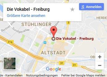 Sprachschule Freiburg - Anfahrt in Google Map
